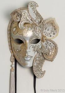 06304 Venetian Carnival Masquerade Full Face Mask Volto Lusso Marlene